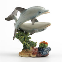 Two Dolphins Art Sculpture Simulation Animals Statue Decorations Shop Opening Housewarming Gifts R1832
