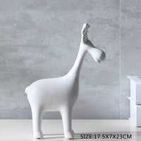 Ceramic Elk Ornaments Matte Craft Gifts Home Decoration Counters Mordern Wine Cupboards Birthday Wedding Housewarming Gifts