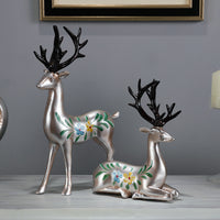 American Resin Love Shape Deer Ornaments Home Livingroom Accessories Porch TV Cabinet Decoration Crafts New Housewarming Gifts