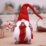 Handmade 17 Inches Christmas Gnome Decoration Swedish Santa Holiday Collectible Figurines Holiday Decor Gift Housewarming