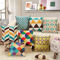 hap-deer linen Printed  Cushion Letters geometric for Sofa Car Seat chair housewarming gift Throw Pillow Home Decorative art