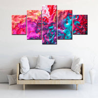 Abstract Oil Paints Colorful Room Decor 5 Panel Canvas Painting Print Abstract Wall Art Decor for Home Fashion Housewarming Gift