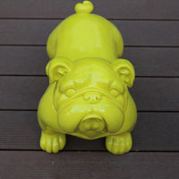 European ornaments large fortune British Bulldog simulation dog decorations shop opening housewarming gifts