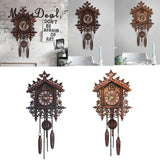 MagiDeal Decorative Wood Wooden Cuckoo Wall Clock for Home Decoration Christmas Housewarming Wedding Gifts