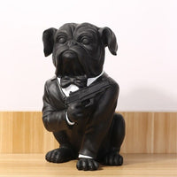 American Country Dog Home Decoration Decoration Resin Home Decoration Pug Black Resin Bulldog Decoration Housewarming Gifts
