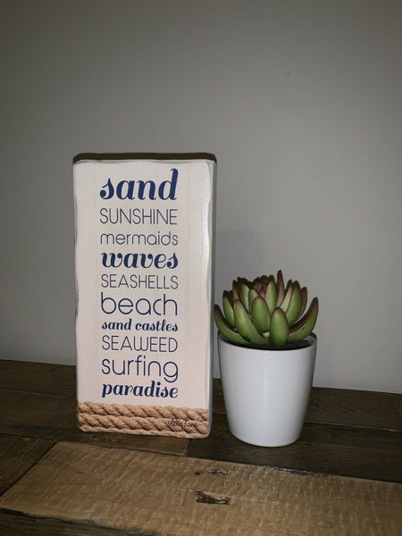 Freestanding Beach Block | Home Decor | House Warming Gift | Kelly Lane