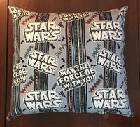 "Handmade Star Wars Accent - Throw Pillow 10"" x 9"" May The Force Be With You"