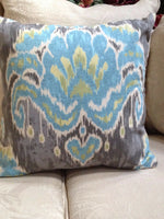 "Home Accent/Moonstone Blue/Gray ikat Pillow Cover/25.00 ea.4 Available 20"" x 20"