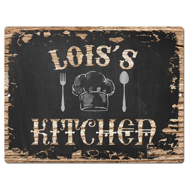 PP1780 LOIS'S KITCHEN Plate Chic Sign Home Kitchen Decor Housewarming party Gift