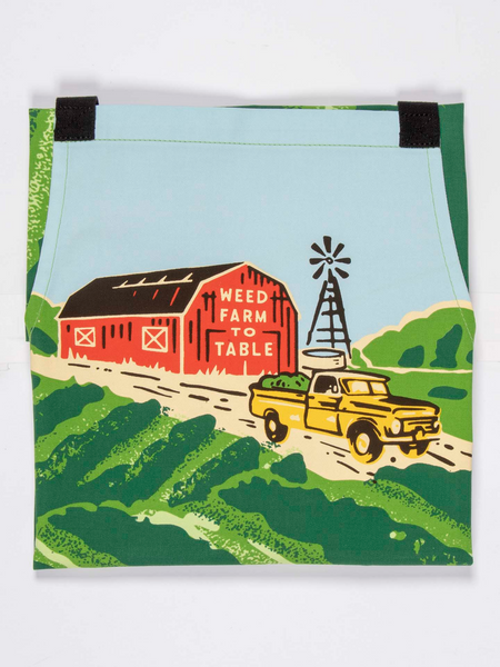 Blue Q -Weed Farm To Table - Apron Kitchen Novelty Housewarming BBQ Gift