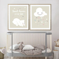 Cartoon Animals Canvas Poster Nursery Nordic Prints Baby Boys Girls Room Decor