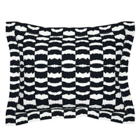 Monochrome Abstract Modern Housewarming Gift Birthday Pillow Sham by Roostery