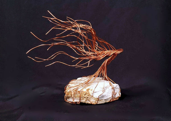 Copper Wire Spirit Tree #990 Steampunk Housewarming Mother's Day Christmas Gift