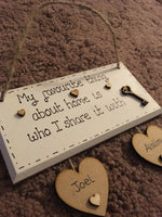 New Home Gift First Home House Warming Gift Personalised Plaque