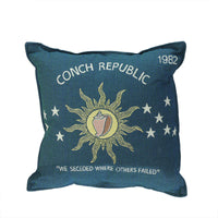17 Conch Republic Flag Decorative Tapestry Accent Throw PIllow
