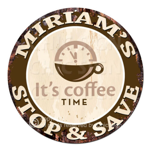 CWSS-0285 MIRIAM'S STOP&SAVE Coffee Sign Birthday Mother's Day Gift Ideas