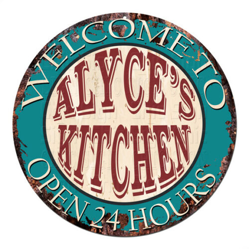 CPK-0877 ALYCE'S KITCHEN OPEN 24HRS Chic Sign Mother's day Birthday Gift