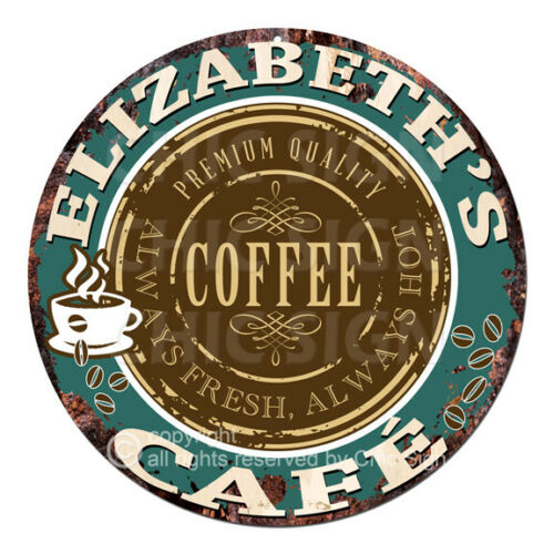 CWCC-0005 ELIZABETH'S COFFEE CAFE Sign Valentine Mother's Day Housewarming Gift