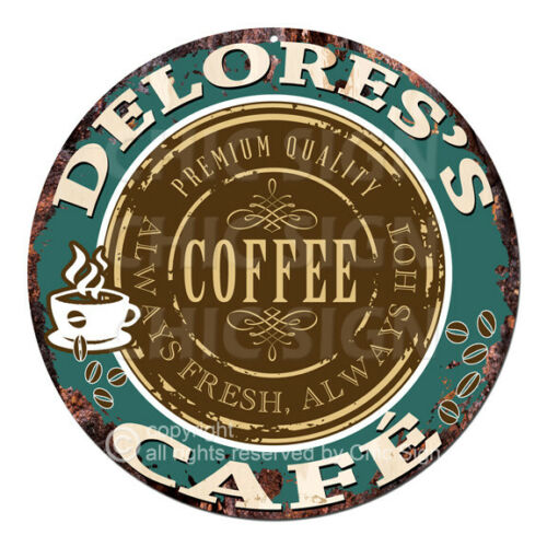 CWCC-0222 DELORES'S COFFEE CAFE Sign Valentine Mother's Day Housewarming Gift