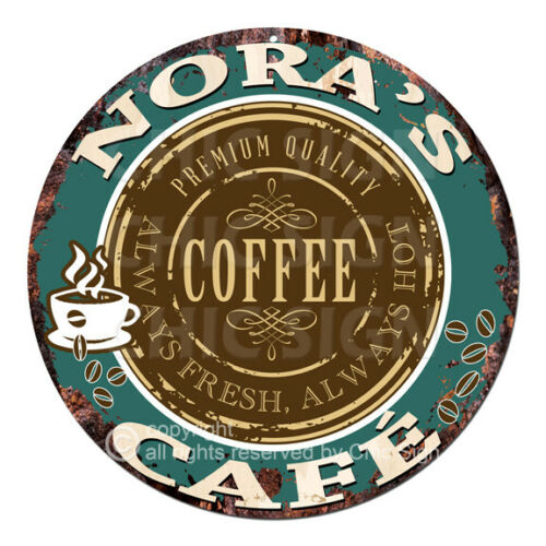 CWCC-0266 NORA'S COFFEE CAFE Sign Valentine Mother's Day Housewarming Gift