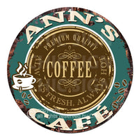 CWCC-0048 ANN'S COFFEE CAFE Sign Valentine Mother's Day Housewarming Gift