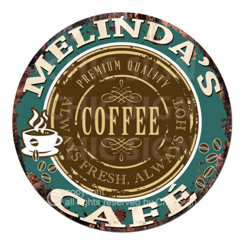 CWCC-0223 MELINDA'S COFFEE CAFE Sign Valentine Mother's Day Housewarming Gift