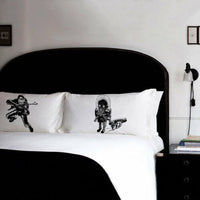 Sci Fi Decor Spaceman vs. Alien pillowcase set pillow cover House Warming Gift