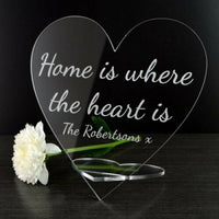 Personalised Home is Where the Heart Is Sign - Gift for New House Housewarming