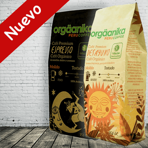 2-Pack Organic Espresso Coffee / Breakfast x 250 gr. - Ground