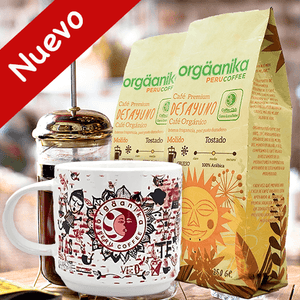 2-Pack + Andean Fire Cup: Organic Coffee Breakfast x 250 gr. - Ground