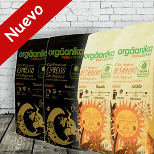 4-Pack: Organic Espresso Coffee + Breakfast x 250 gr.
