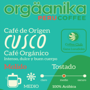 Organic Coffee Cusco x 250 gr. - Ground