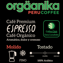 Load image into Gallery viewer, Organic Espresso Coffee x 250 gr. - Ground