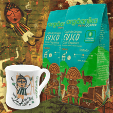 Load image into Gallery viewer, 2-Pack + Mug Moche: Organic Coffee of Origin x 250 gr. - Grain