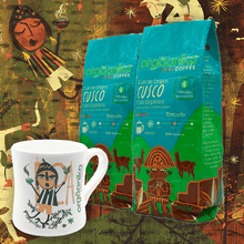 Load image into Gallery viewer, 2-Pack + Mug Moche: Organic Coffee of Origin x 250 gr. - Ground