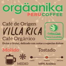 Load image into Gallery viewer, Villa Rica Organic Coffee x 250 gr. - Ground