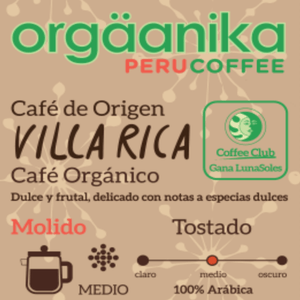 Villa Rica Organic Coffee x 250 gr. - Ground