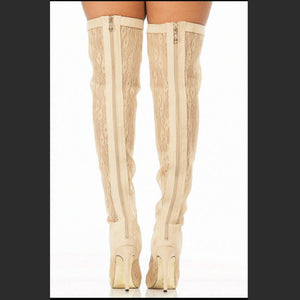 THIGH HIGH LACE UP BOOTS LACE
