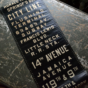 Queens NYC Bus Destination Roll Sign バスロール ロールサイン