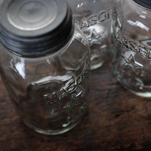 Five Pint Star Mason Jar 32oz 1970年代