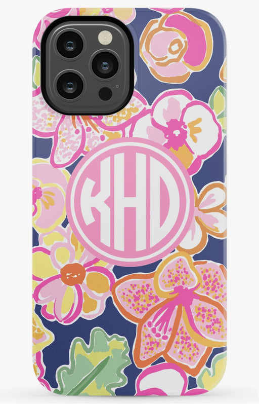 Preppy Floral Monogram Phone Case