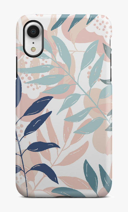 Pink Tropical Leaves Phone Case