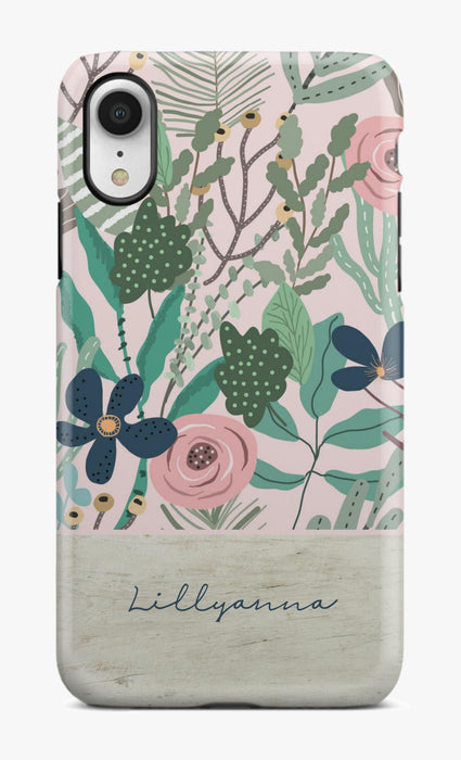 Wood Pink Flower Phone Case