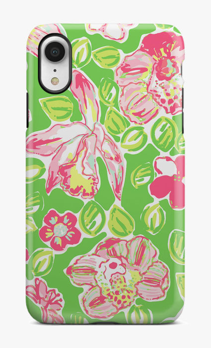 Preppy Pink Orchid Phone Case