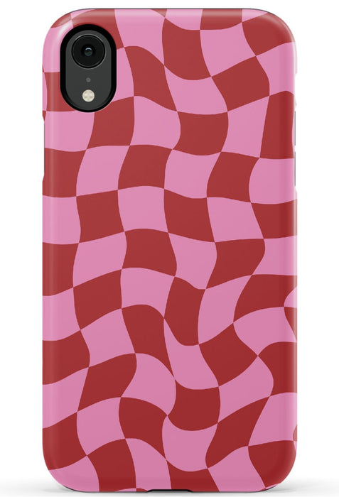 Trippy Checkers Phone Case