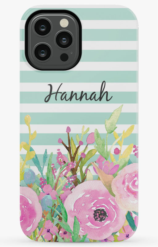 Floral Name Phone Case
