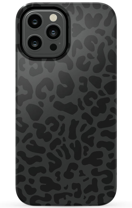 Black Leopard Print Phone Case