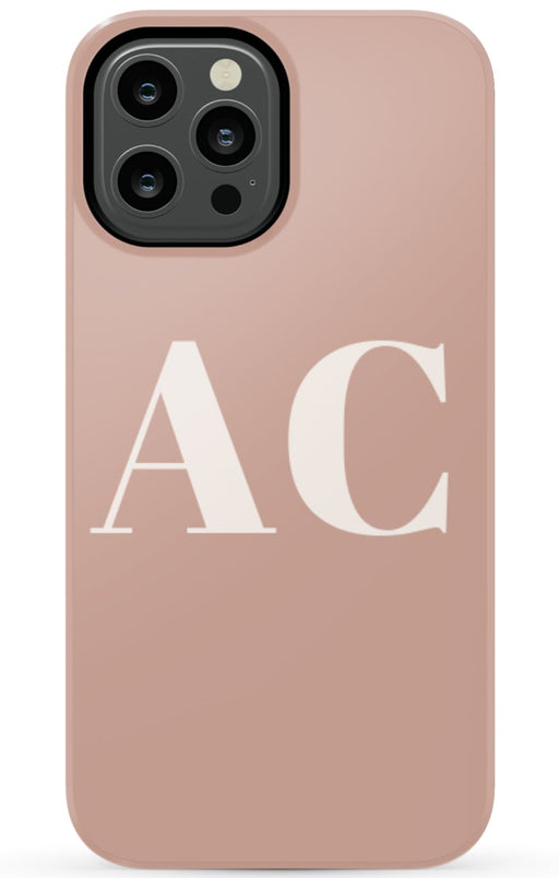 Nude Large Initial Phone Case