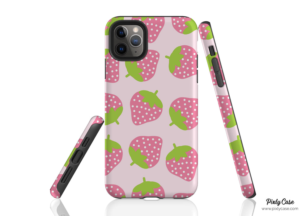 Pink Strawberry Phone Case
