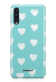 """White Hearts"" Galaxy Printed Back Cover Case"